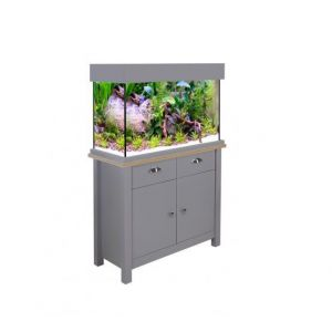 Aqua One OakStyle 145 Aquarium and Cabinet (Flint Grey)