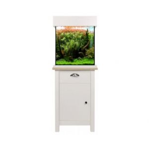 Aqua One OakStyle 85 Aquarium and Cabinet (Soft White)